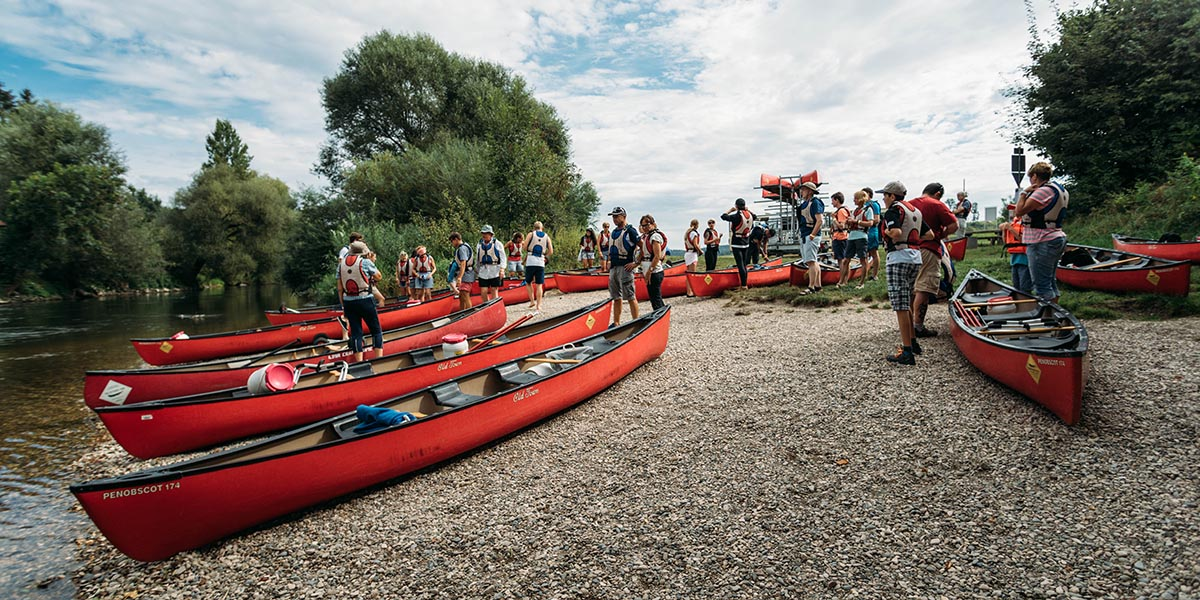 Boote an der Donau