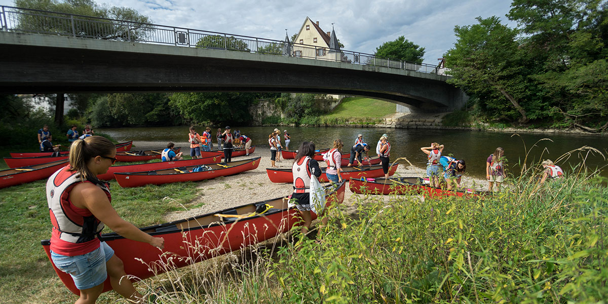 Schulausflug an die Donau