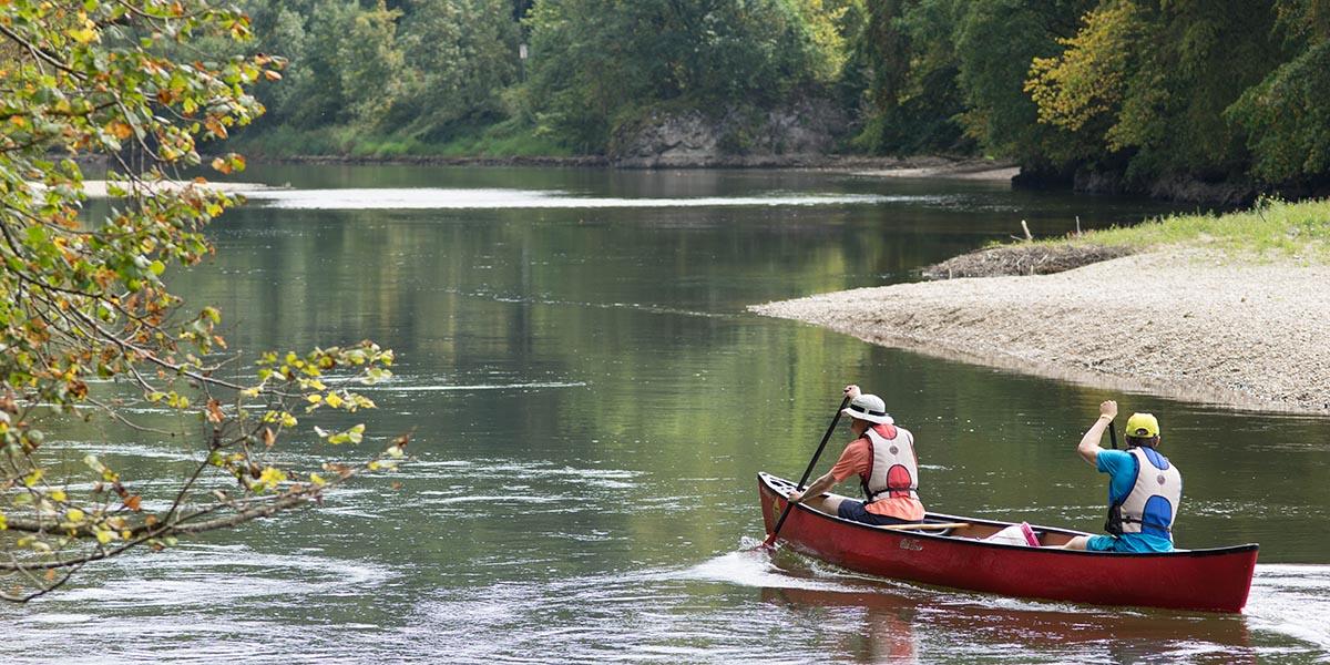 Ausflug auf Donau und Lauter im Kanu und Kajak