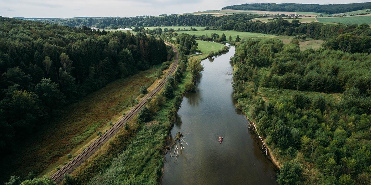 Kanu und Kanadier auf der Donau