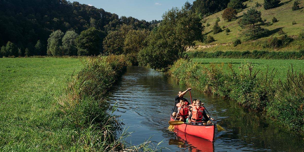 Ausflug im Kanu auf der Lauter