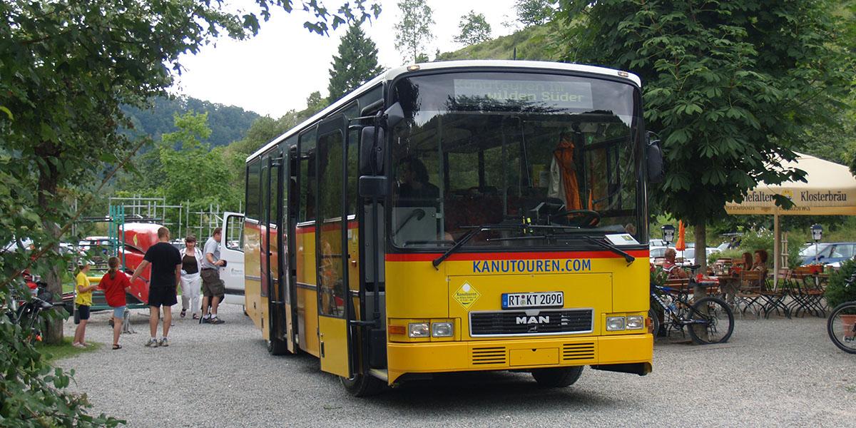 Bustransfer und Bustransport an Donau und Lauter