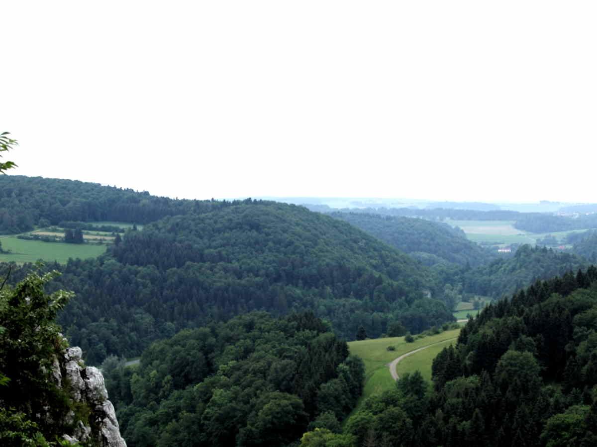 Grosses Lautertal Panoramablick