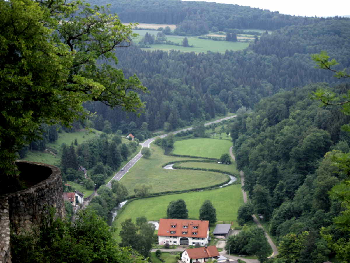 Lautertal Blick vom Wittstaig
