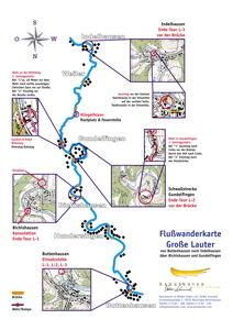 Faltblatt Downlaod mit einer Flusskarte